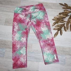 Reebok Pink & Green Capri Leggings (2 for $14)